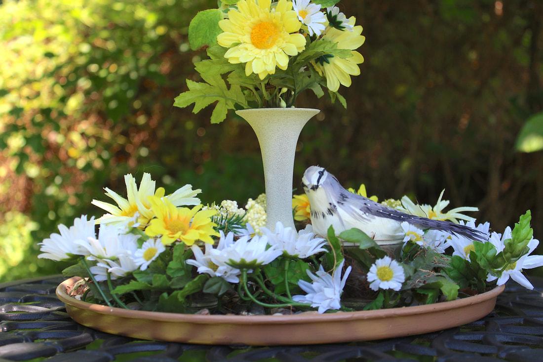 Diy Faux Florals Birds Repurposed Items